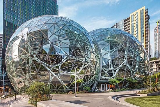 Amazon Spheres | Solarban® 60 Starphire® Glass