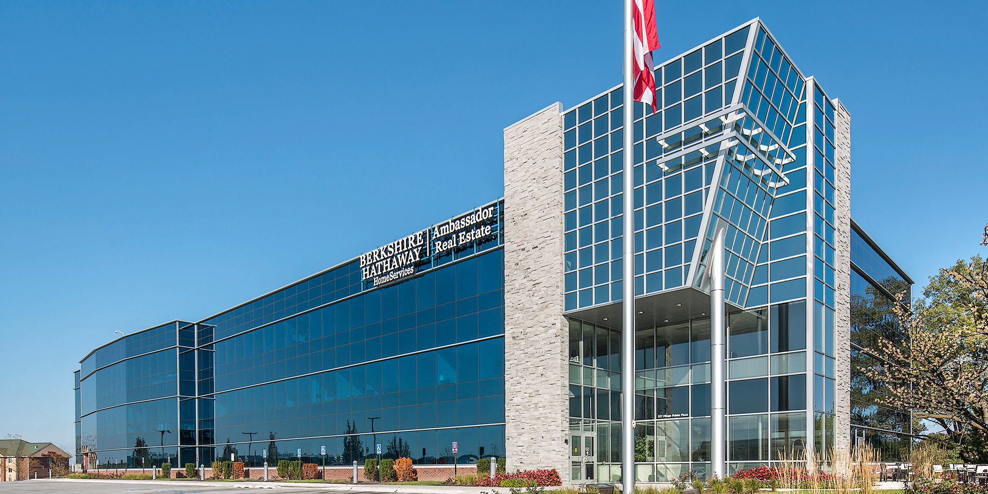 Berkshire Hathaway HomeServices Corporate Office | Solarban® R100 Pacifica® Glass & Solarban® R100 Glass