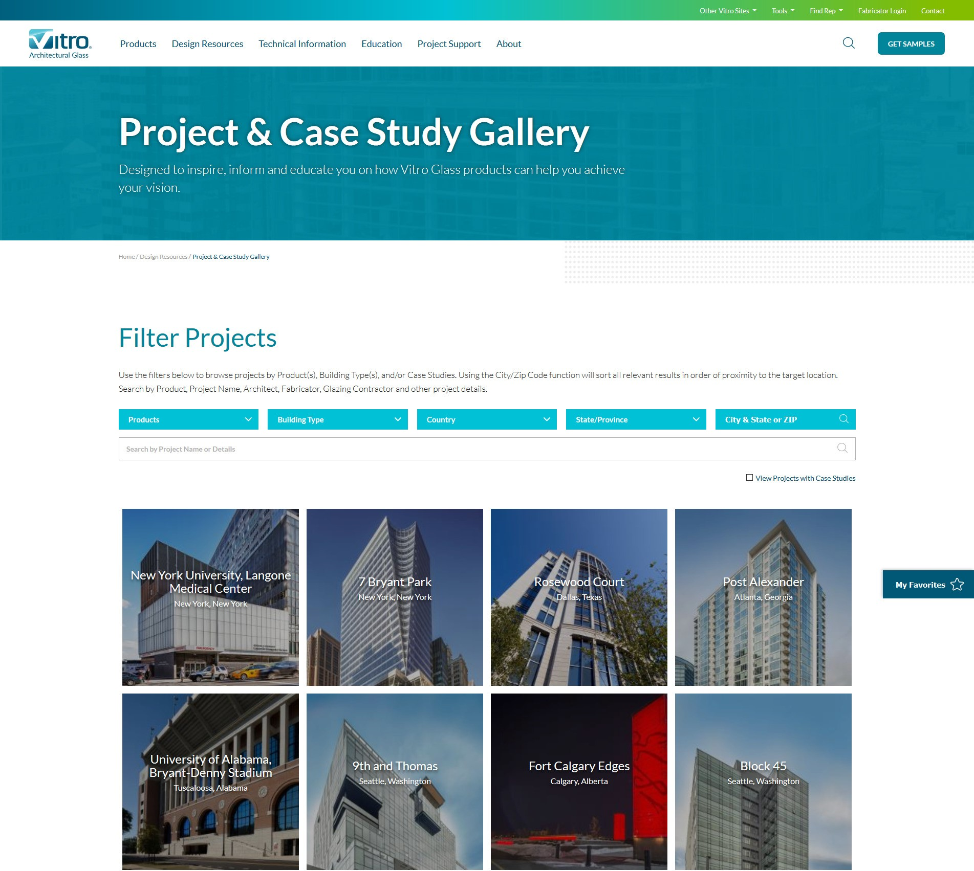 Vitro Project Gallery Homepage