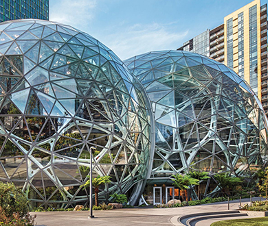 Amazon Spheres Starphire Ultra Clear Glass